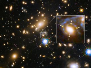 Hubble's 'Einstein Cross' Marks the Space-Warping Spot