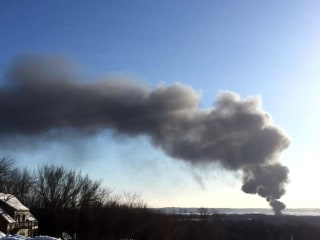 Freight Train Carrying Oil Derails, Catches Fire in Illinois