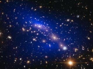 Crashing Galaxies Shed Light on Dark Matter Mystery