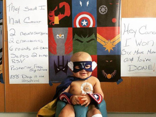 'Valiant Vito,' Toddler Who Wore Superhero Capes During Cancer Fight, Beats Disease