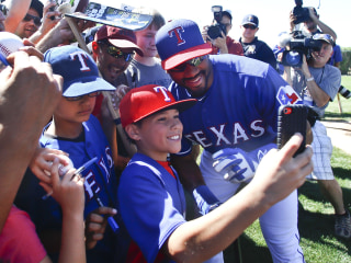 Spring Fling: QB Russell Wilson Homers at Rangers Camp