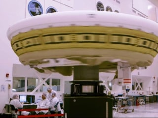 NASA Takes Its Flying Saucer for a Pre-Flight Spin