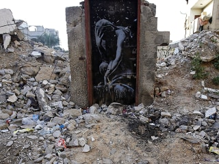 Gaza Man Feels Duped After Selling Banksy Mural for Only $175