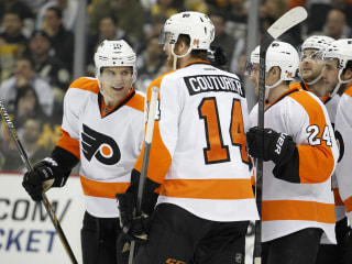 Flyers Trounce Slumping Penguins on Rivalry Night