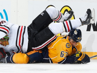 Predators Torch Blackhawks 6-2 to Even Series