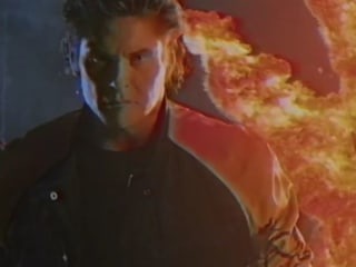 Watch David Hasselhoff Ride a Dinosaur in 'True Survivor' Video