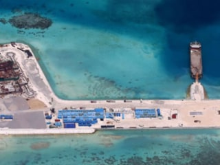 Philippines Shows Photos of China's Island-Building Work in Spratlys