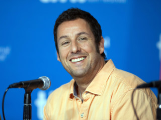 Adam Sandler Takes His Doppelganger to Movie Premiere