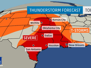 Severe Storms: Threat of Tornadoes, Large Hail Intensifies for South and Plains