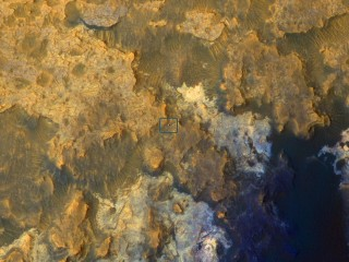 Spotted From Space: Mars Rover Curiosity Trundles Across Red Planet