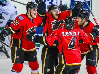 Flames Stage Another Comeback, Eliminate Vancouver