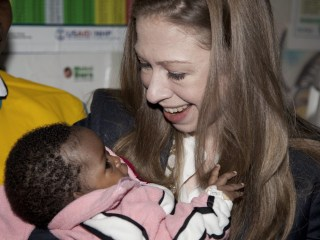 Chelsea Clinton in Nairobi, Kenya, Says Holding  Baby Reminds of Own Child