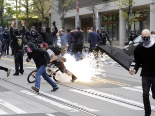 Seattle May Day Protests Turn Violent as Cops Hit With Wrenches, Rocks