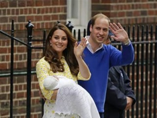 Duchess Kate Glows in Floral Dress for Royal Baby Debut
