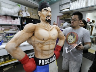 Manny Pacquiao Comes to Life in Super-Sized Cake Ahead of Mayweather Matchup