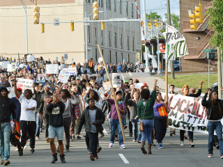 Baltimore Curfew Remains in Place After Peaceful Freddie Gray Rally