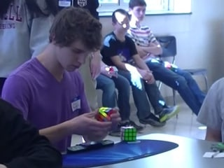 5.25 Seconds! U.S. Teen Collin Burns Sets Rubik's Cube World Record