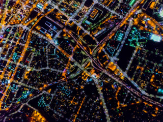 Los Angeles Sparkles in High-Altitude Night Views