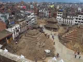 Drone Video Captures 'Broken City' of Kathmandu
