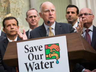 California Gov. Brown Wants $10,000 Fine for Water-Wasters