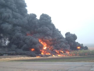 Heimdal, North Dakota, Evacuated After Fiery Oil Train Crash