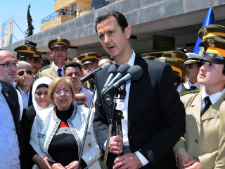 Syria's President Bashar Assad Defends Military Setbacks in Rare Appearance