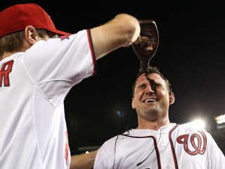 Sweet Victory: Nats Celebrate Wins with Chocolate Sauce