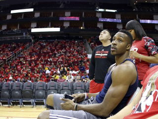 Flooding Strands Dwight Howard, Houston Rockets Fans in Arena Overnight