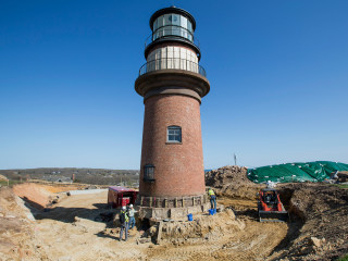 Historic Lighthouse Creeps Away From Eroding Cliff Edge