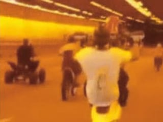 Wheelie-Popping Bikers Take Over Boston Tunnel