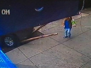 Car Jumps Curb, Mows Down Boy on New York Sidewalk