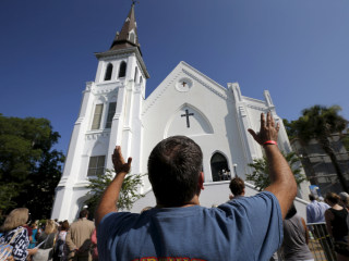 Charleston Unites as Church Opens Doors for Sunday Service