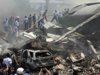 Indonesia Military Plane Crashes Into Hotel; 113 Killed