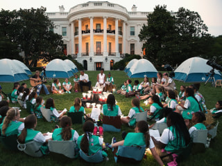 Capital Camp Out: Girl Scouts Take to White House Lawn With First Lady