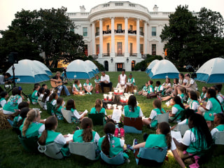Girl Scouts Camp Out on White House Lawn