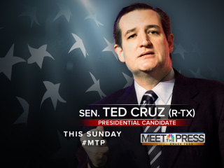 Sunday on MTP: Sen. Ted Cruz (R-TX)