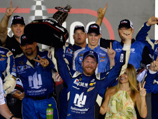 Dale Jr. Wins NASCAR Sprint Cup Race in Harrowing Daytona Finish