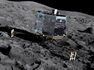 Rosetta's Missing Philae Probe Found in Dark Crack on Comet