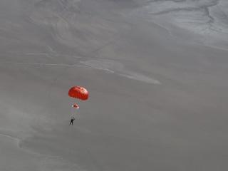 Virgin Galactic Crash: Dramatic Photo Shows Pilot Parachuting to Safety