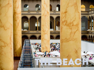 Indoor Beach at National Building Museum in D.C. Draws Thousands
