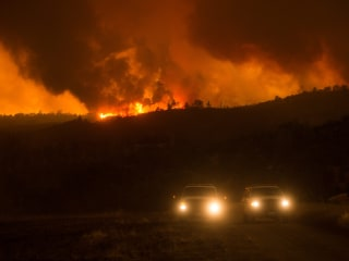Large California Wildfire Grows, Evacuations Ordered