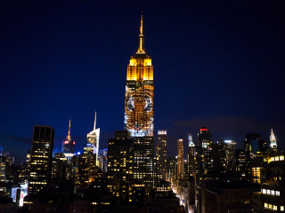 Empire State Building Illuminated With Images of Endangered Species