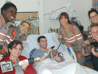 'Ghostbusters' Cast Visits Boston Children's Hospital
