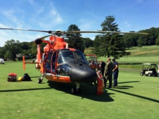 Coast Guard Chopper Makes Emergency Landing on Golf Course