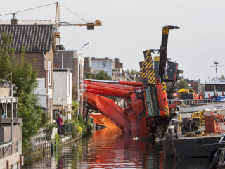 Netherlands Crane Collapse Demolishes Houses, Injures At Least 20