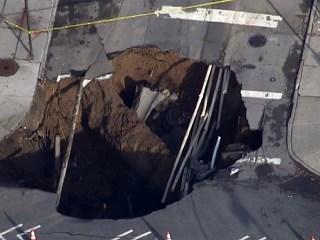 Monster Sinkhole Devours Brooklyn Intersection