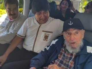 Fidel Castro Celebrates 89th Birthday With Leftist Allies