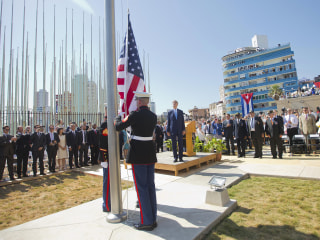 American Flag Flies at Embassy in Cuba for First Time Since 1961