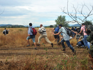 Refugees Tear Through Police Lines at Macedonian Border
