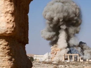 ISIS Images Purportedly Show Bombing of Palmyra's Baal Shamin Temple